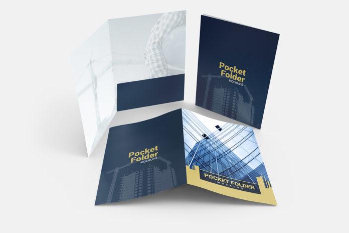 Free Pocket Folder Standard Mockups