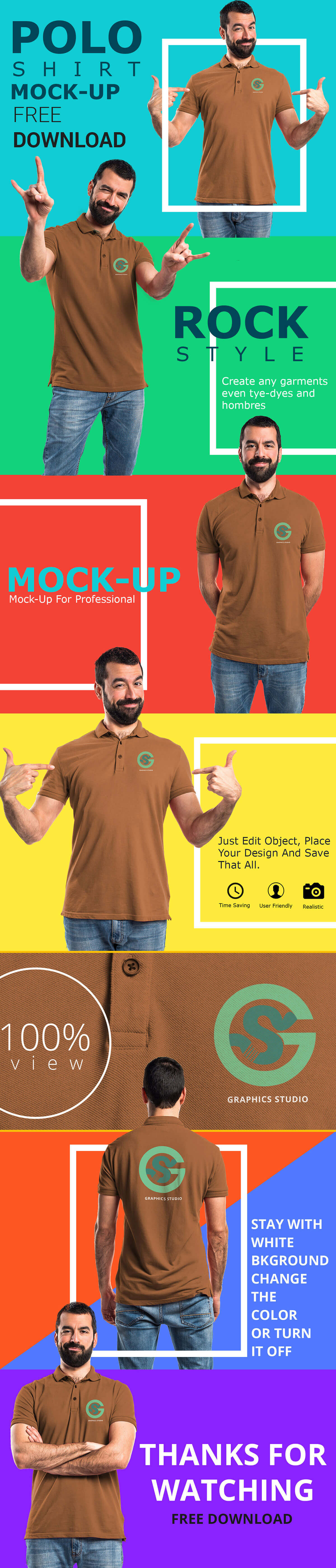 Free Polo Shirt Mockup Pack