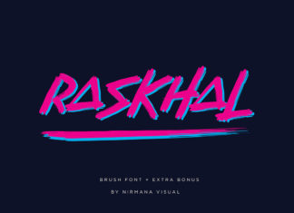 Free Raskhal Brush Font