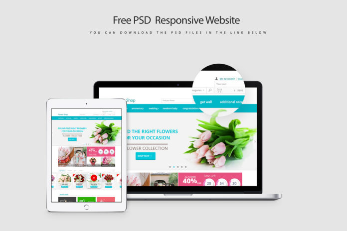 Free Responsive Website PSD Template