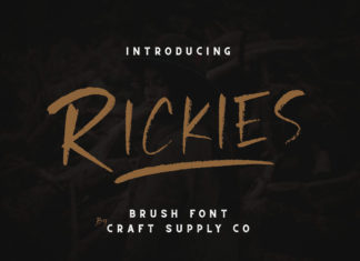 Free Rickies Brush Font