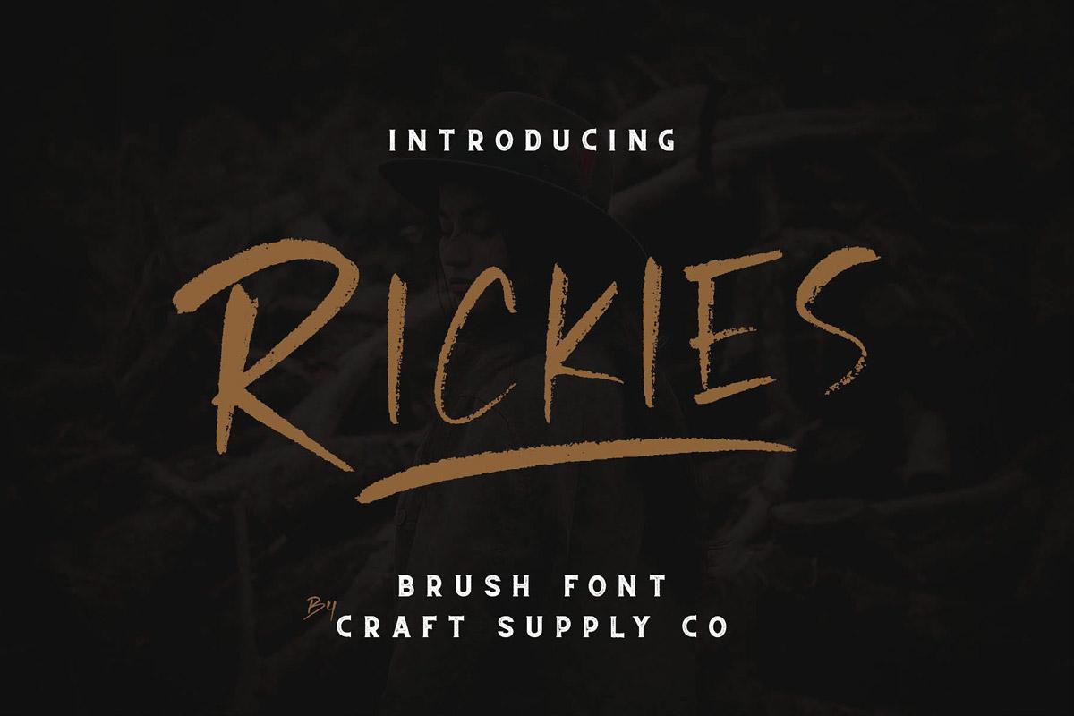 Free Rickies Brush Font