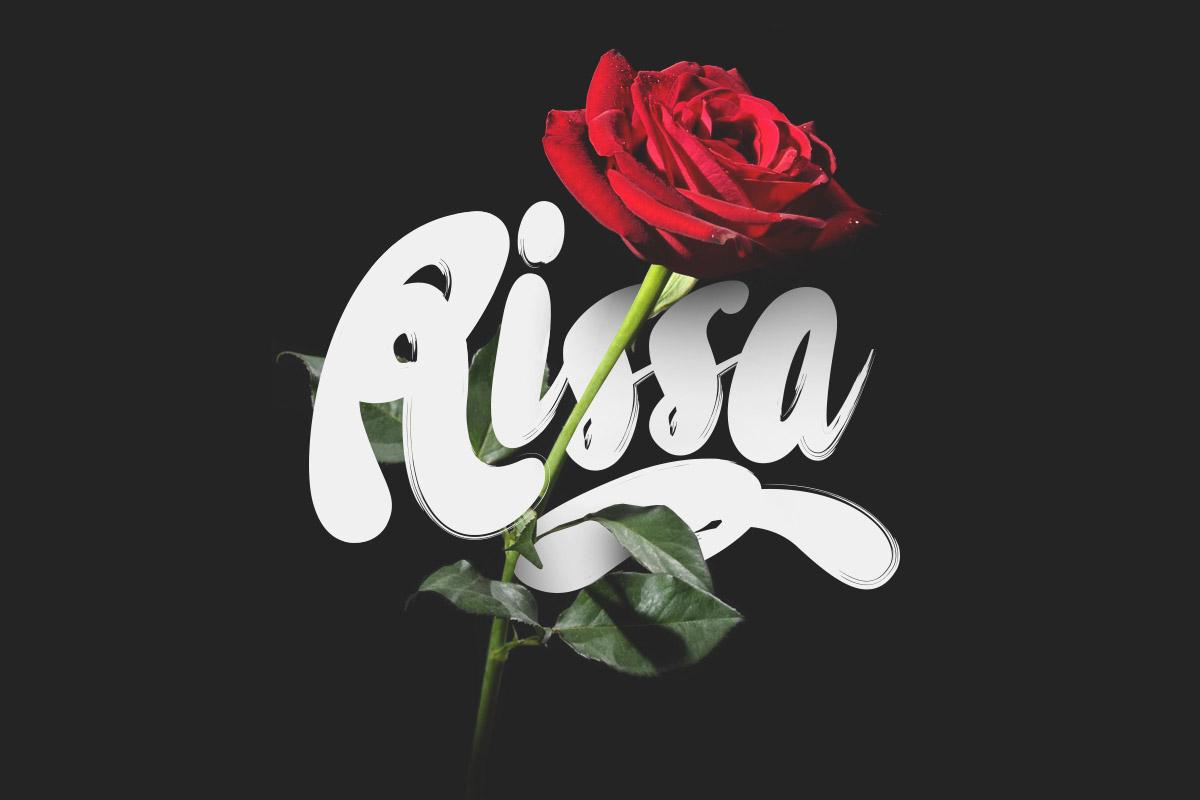 Free Rissa Brush Script Font