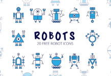 Free Robot Vector Icon Set