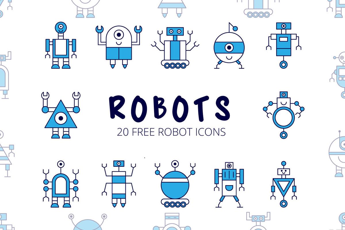 Free Robot Vector Icon Set - Creativetacos