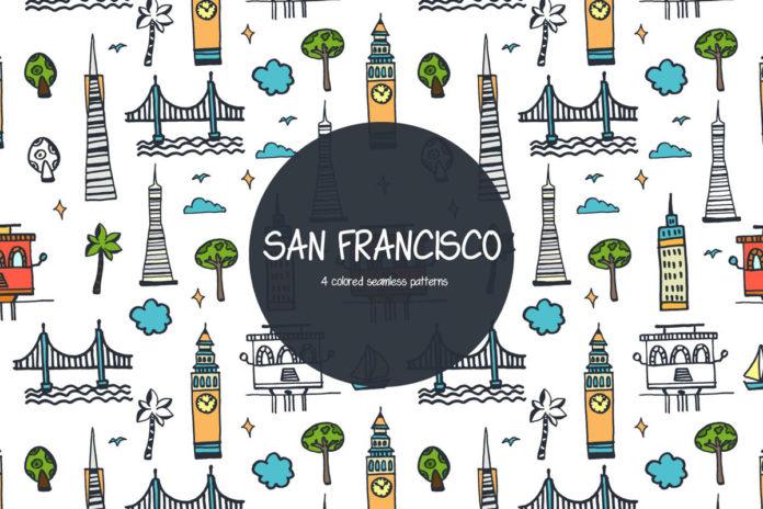 Free San Francisco Vector Pattern