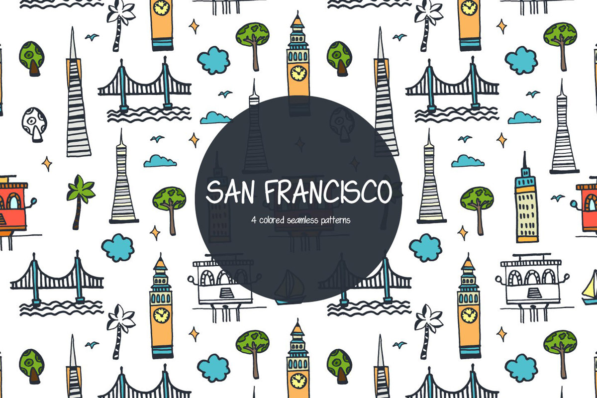 Free San Francisco Vector Pattern