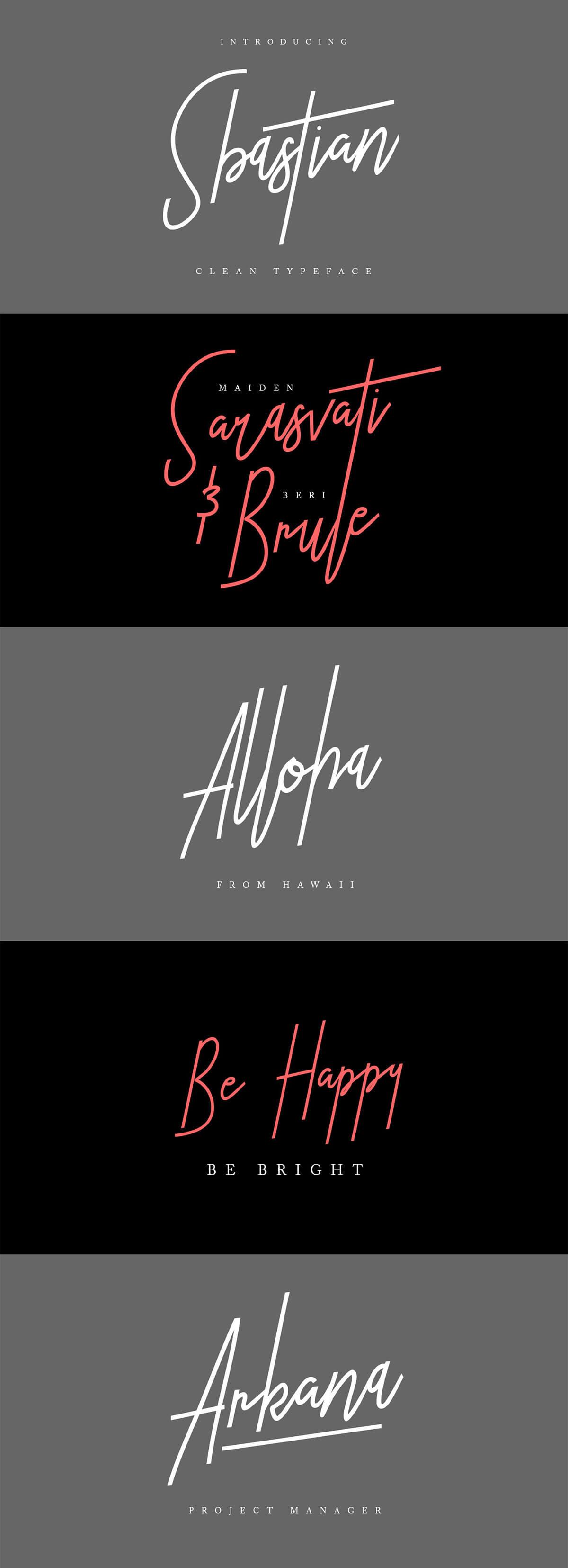 Free Sbastian Signature Font