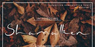 Free Shamallien Handwritten Script Font