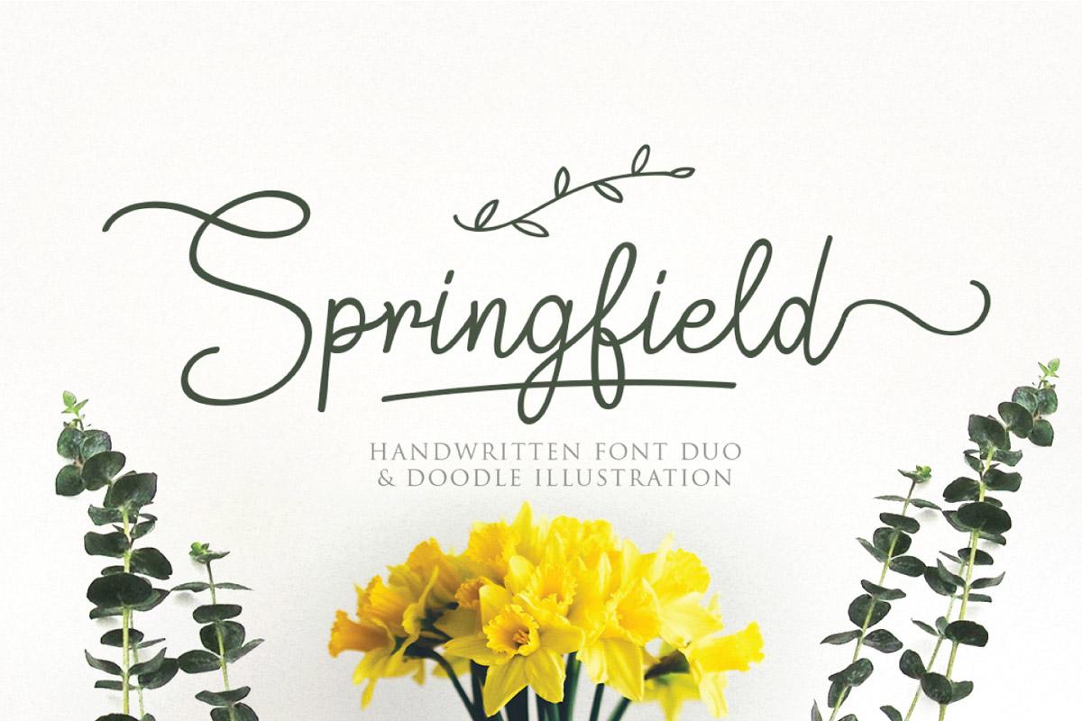 Free Springfield Handwritten Font