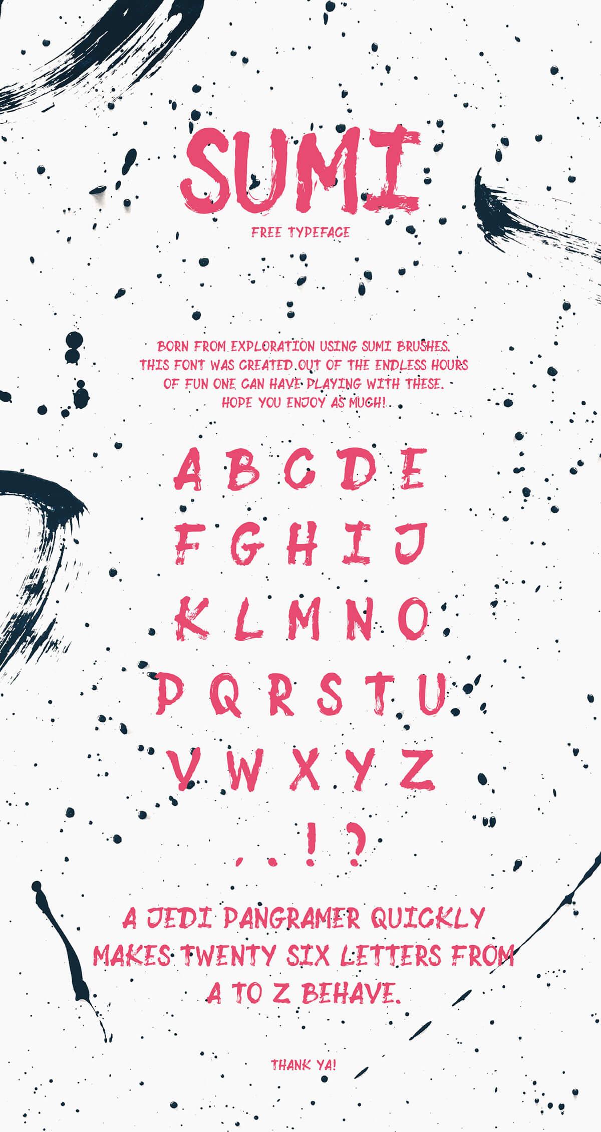 Free Sumi Brush Font