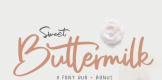 Free Sweet Buttermilk Font Duo
