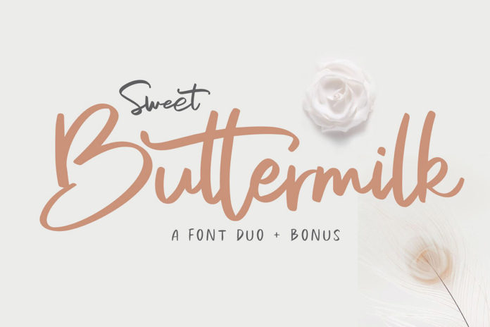 Free Sweet Buttermilk Font Duo