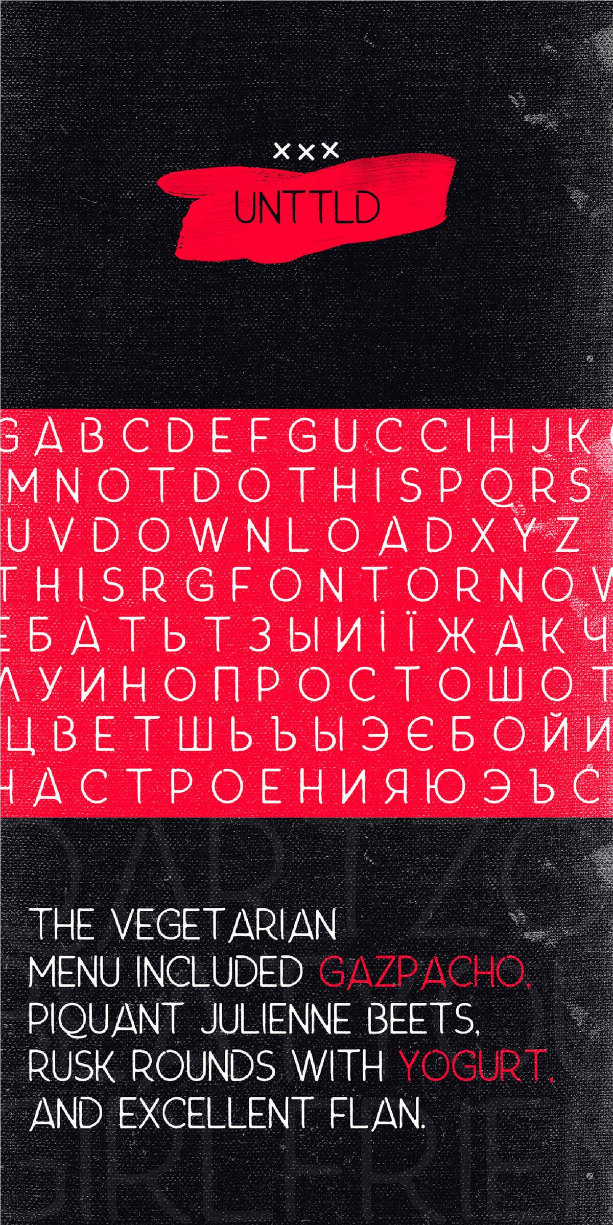 Free Unttld Grunge Font