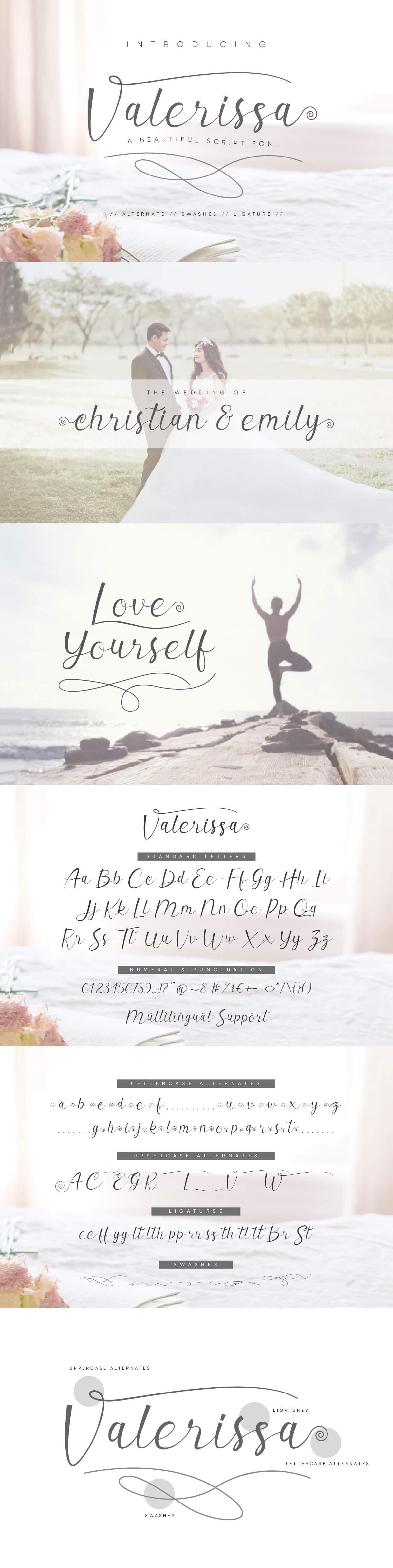 Free Valerissa Script Font