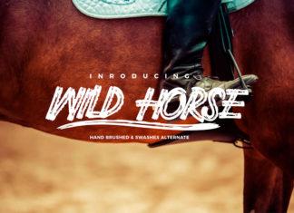 Free Wild Horse Brush Font