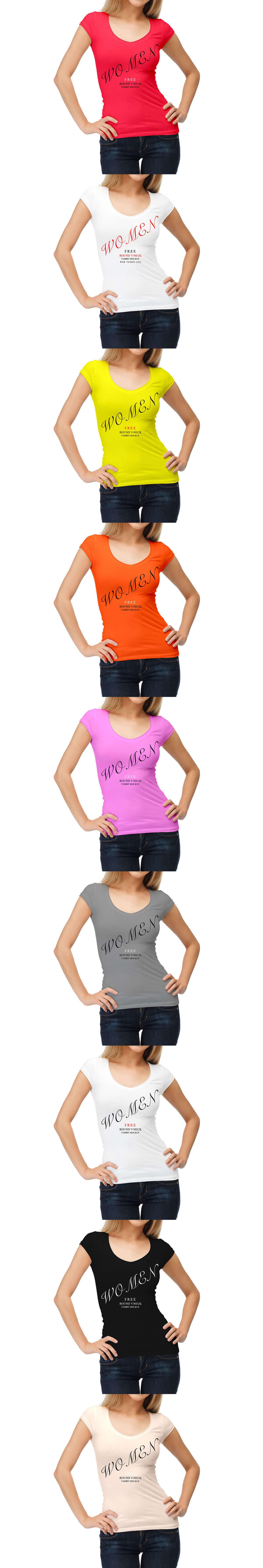 Free Women T-Shirt Mockop