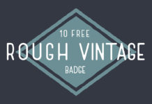 10 Free Rough Vintage Badge