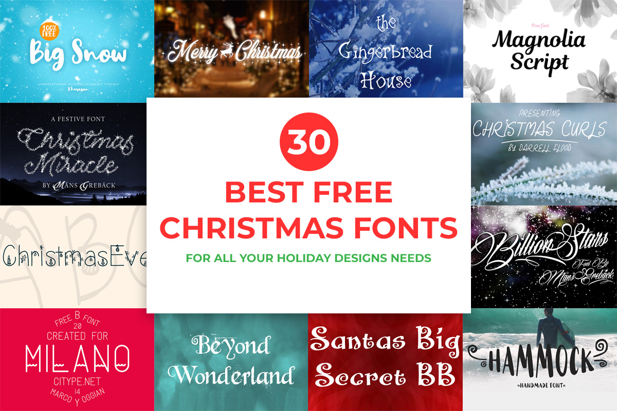 Best Christmas Fonts.30 Best Free Christmas Fonts For All Your Holiday Designs Needs