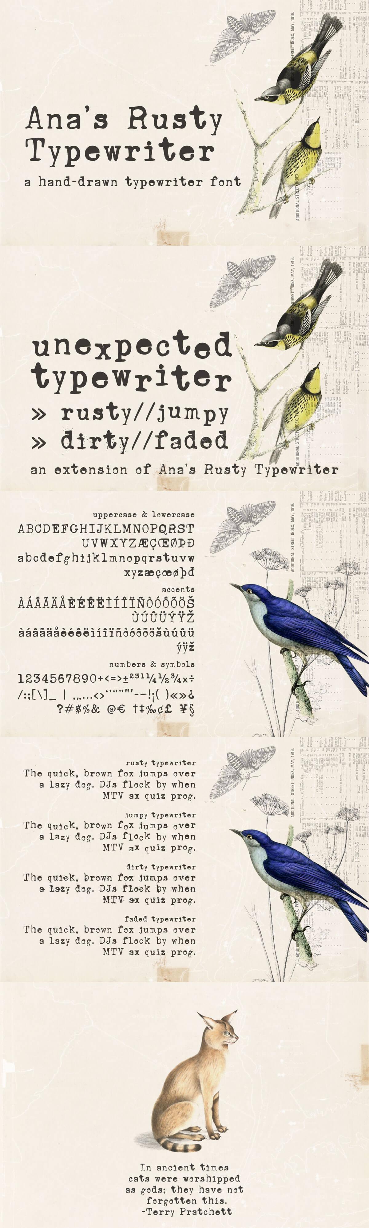 Free Anas Rusty Typewriter Font