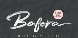 Free Bafora Brush SVG Font