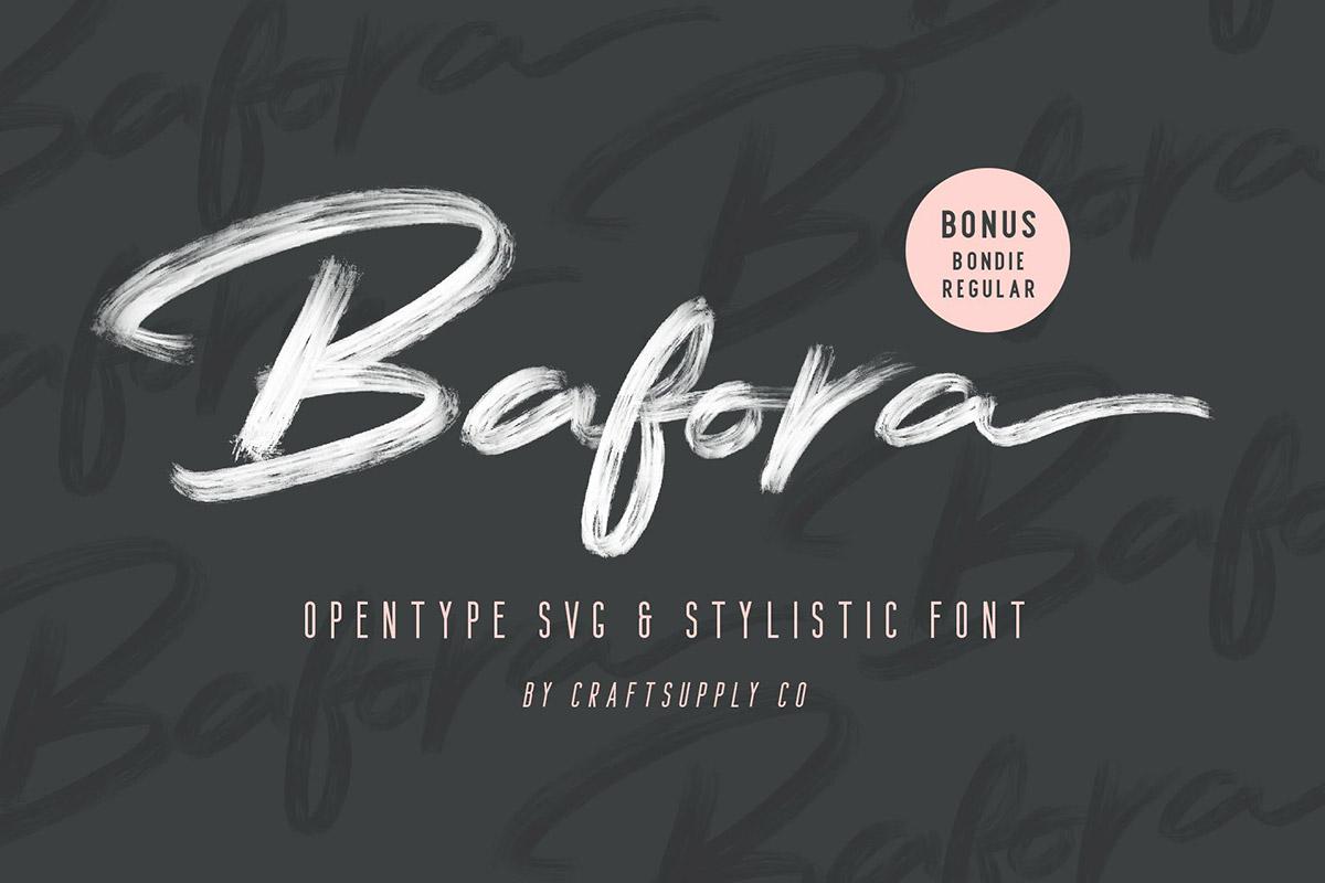 Free Bafora Brush SVG Font