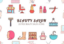 Free Beauty Salon Vector Icon Set