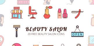 Free Beauty Salon Vector Icon Set