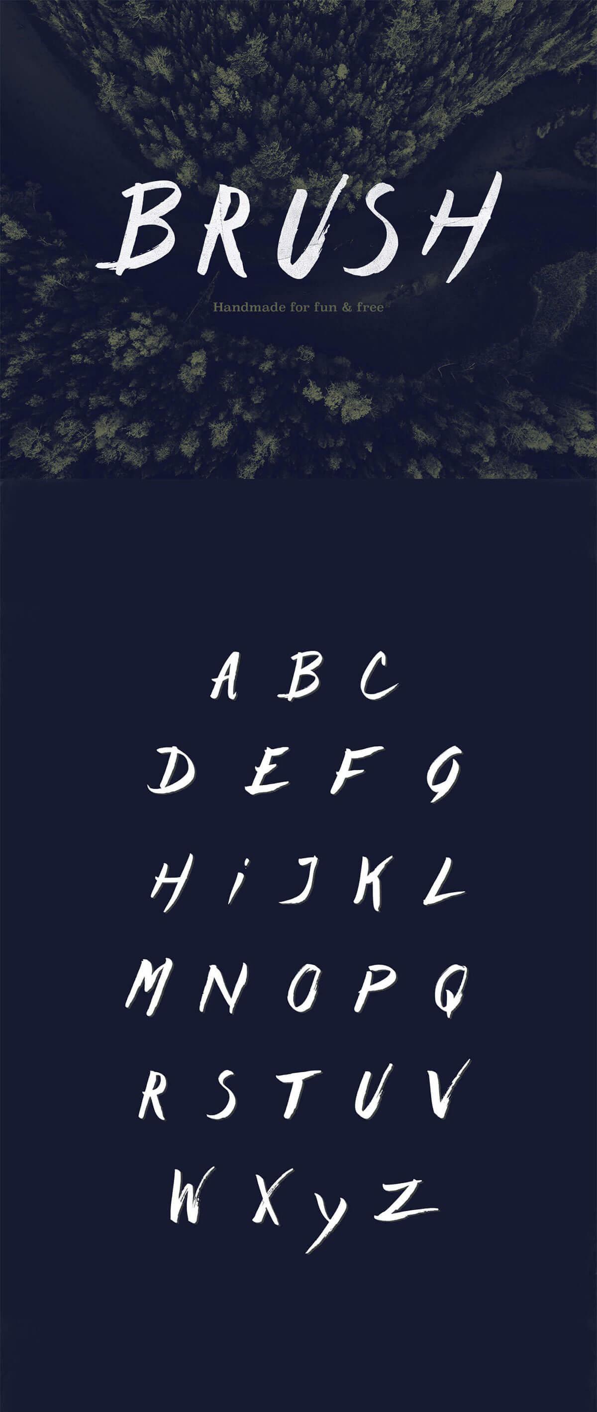 Free Brush Handmade Font
