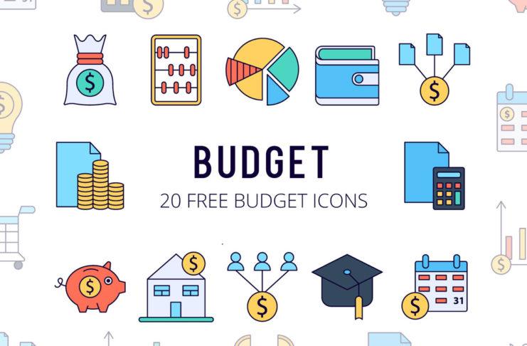 Free Budget Vector Icon Set
