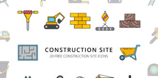Free Construction Site Vector Icon Set