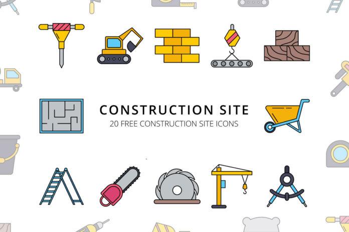 Free Construction Site Vector Icon Set