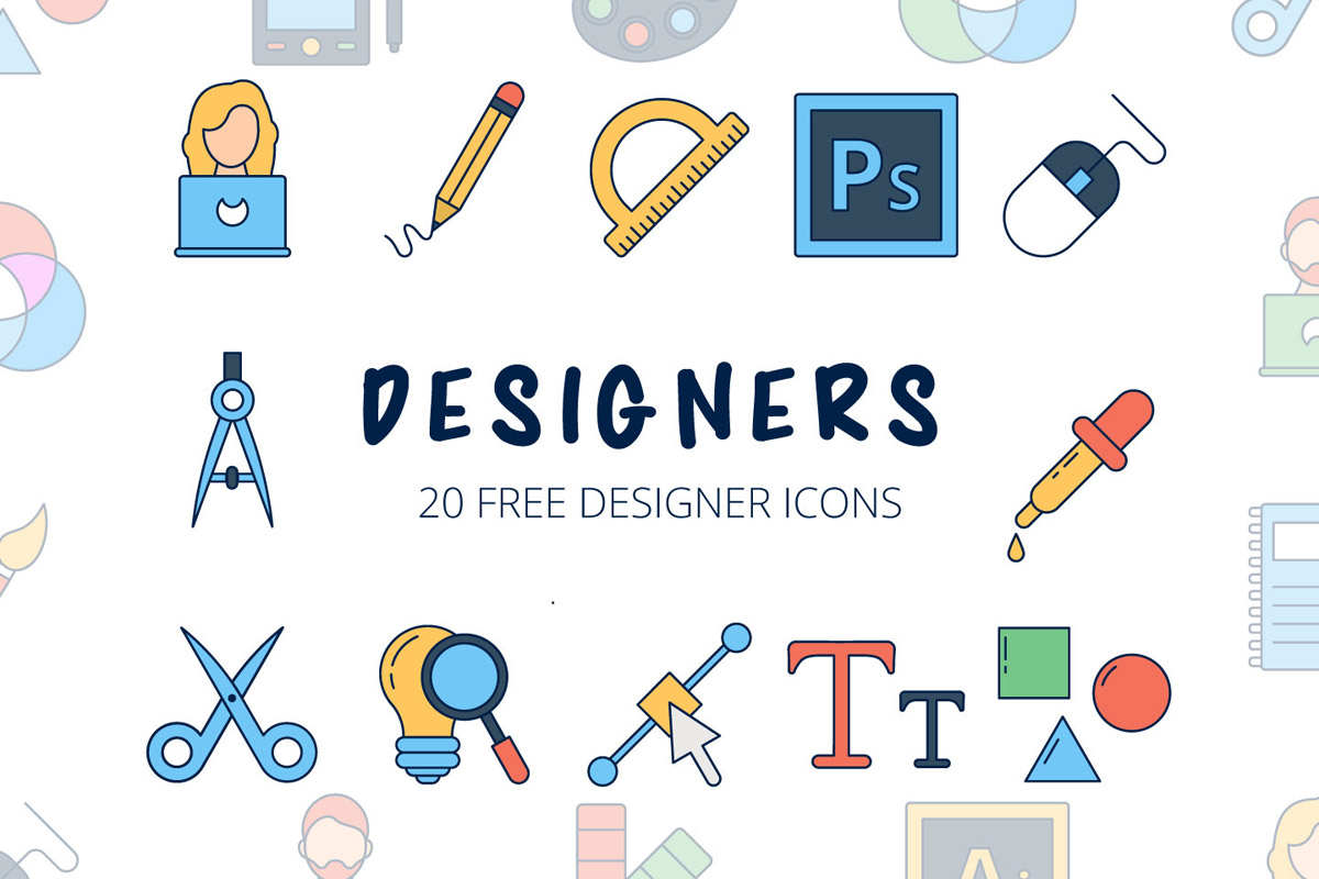Free Designers Vector Icon Set