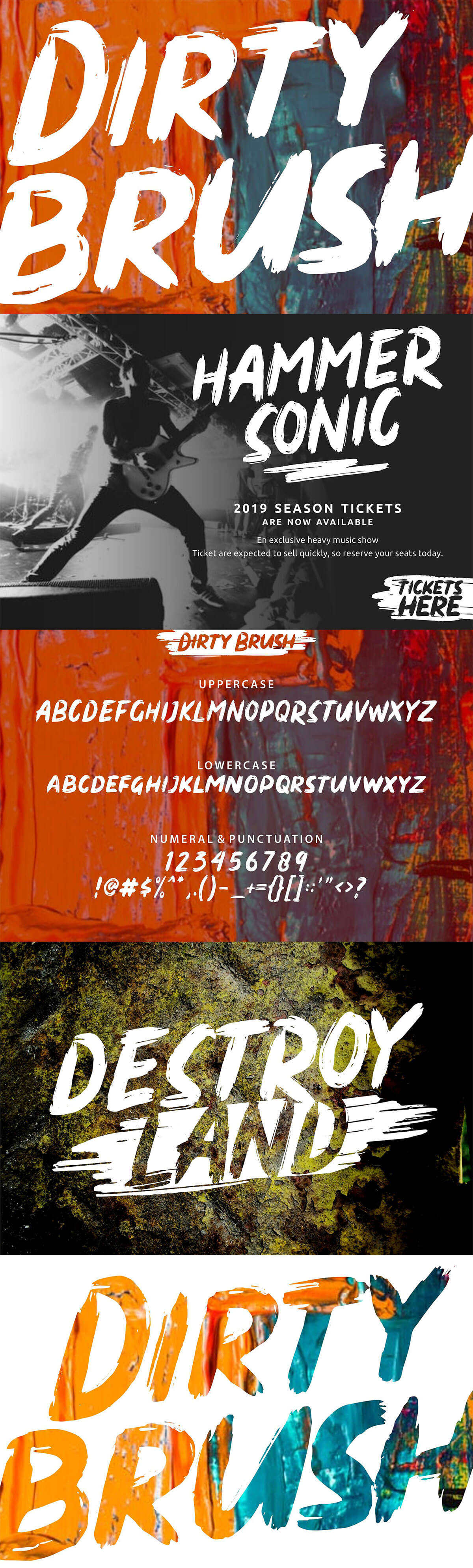 Free Dirty Brush Display Font