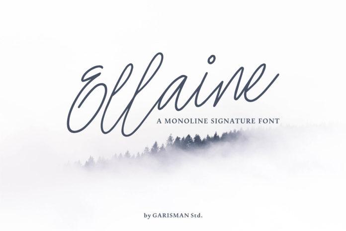 Free Ellaine Signature Font