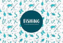 Free Fishing Vector Seamless Pattern