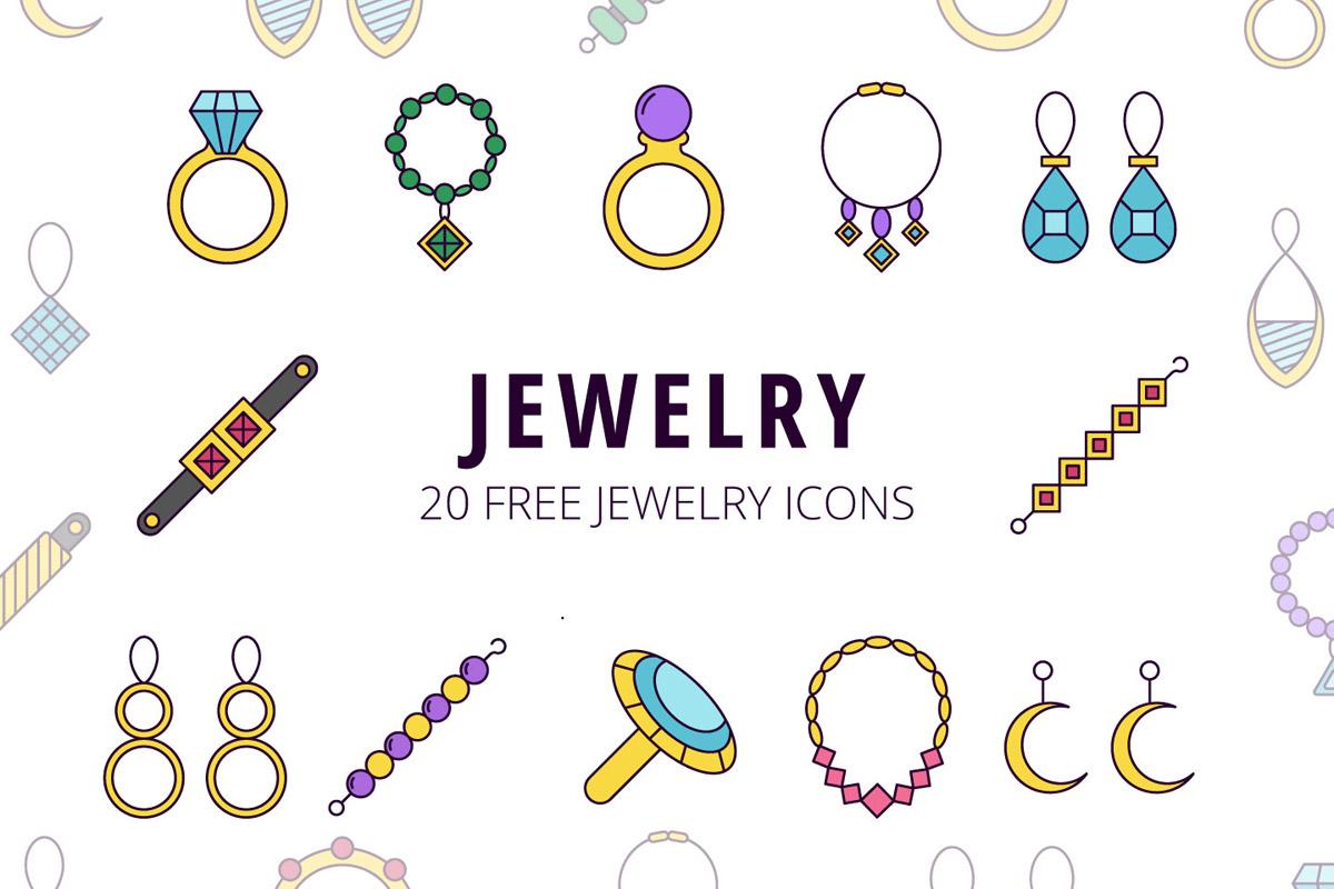 Free Jewelry Vector Icon Set