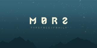 Free Marz Geometric Sans Serif Font
