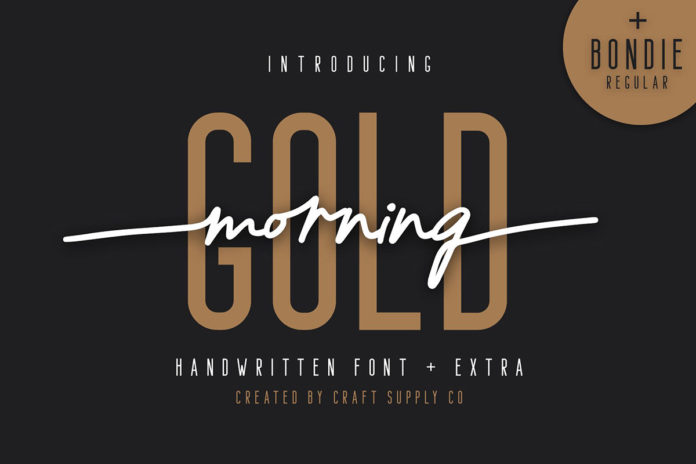 Free Morning Gold Handwritten Font