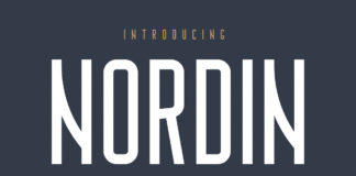 Free Nordin Condensed Sans Serif Font