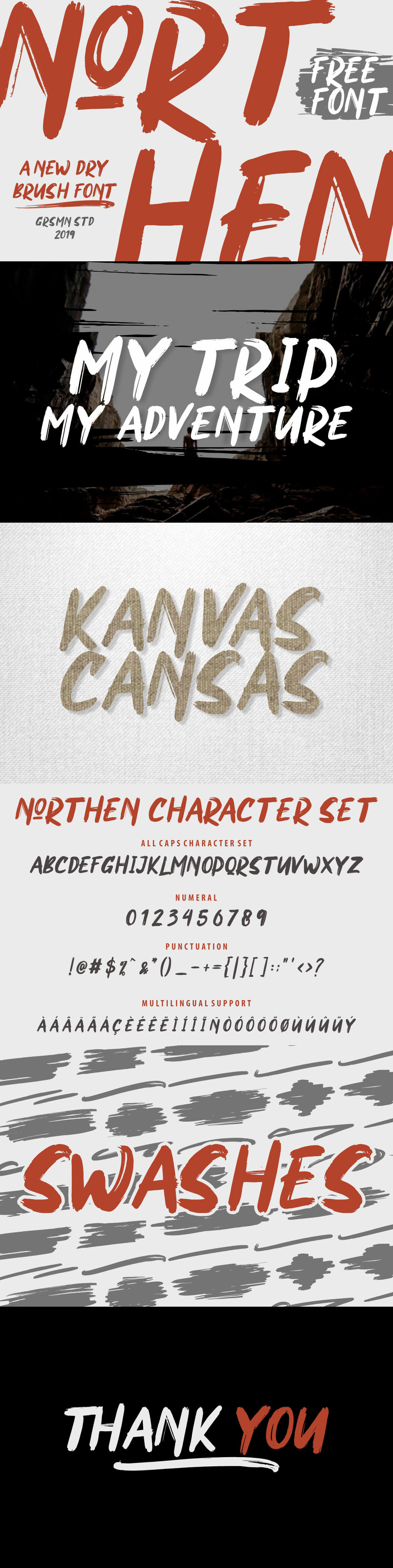 Free Northen Display Font