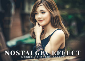 Free Nostalgia Effect Mobile Lightroom Preset Cover