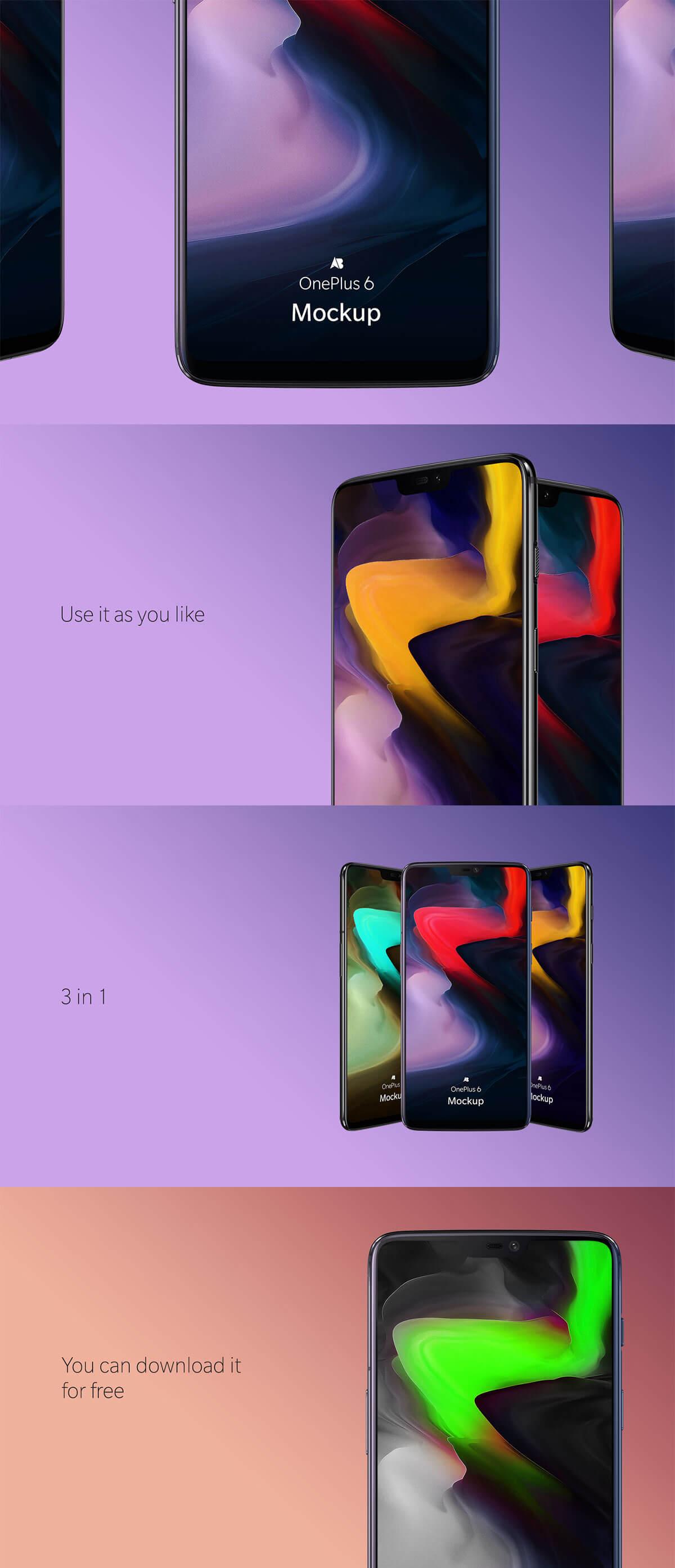 Free OnePlus 6 Mockup