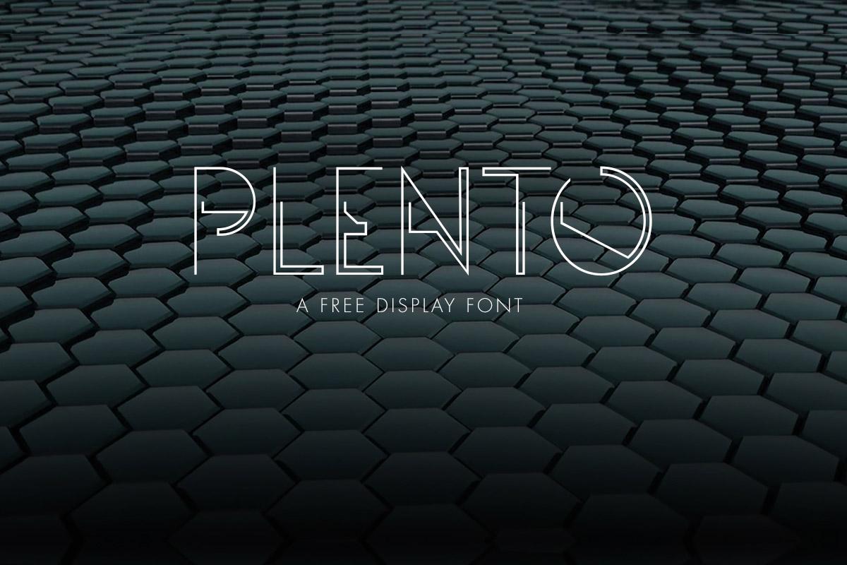 Free Plento Display Font