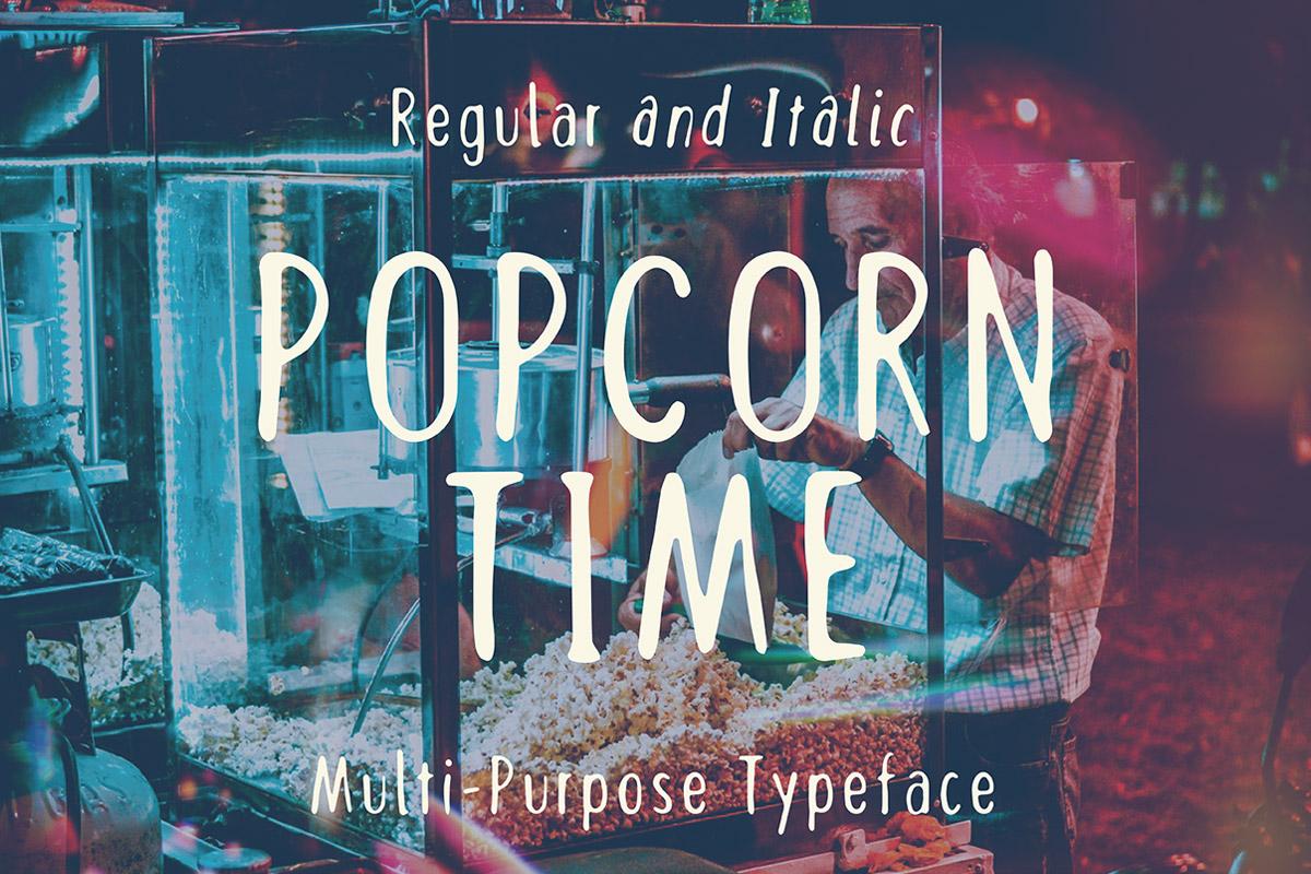 Free Popcorn Time Sans Serif Font