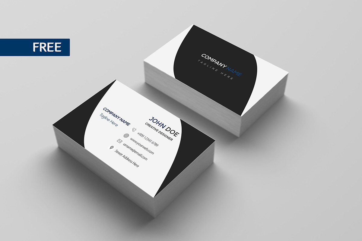 free print design business card template