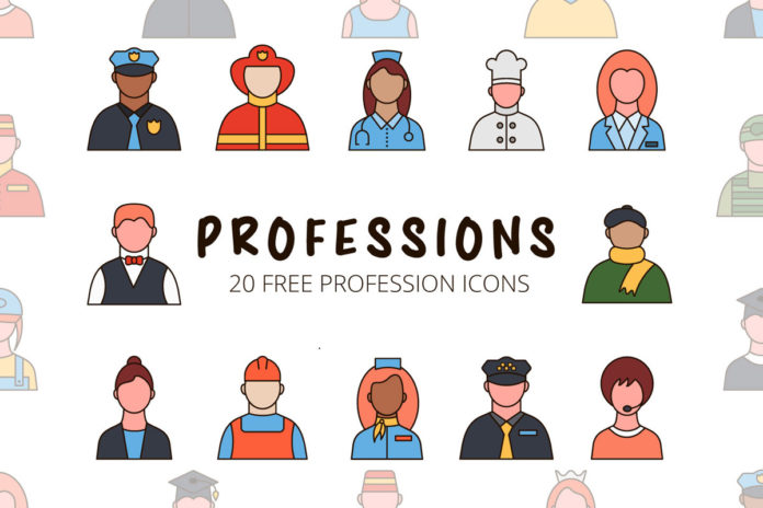 Free Professions Vector Icon Set