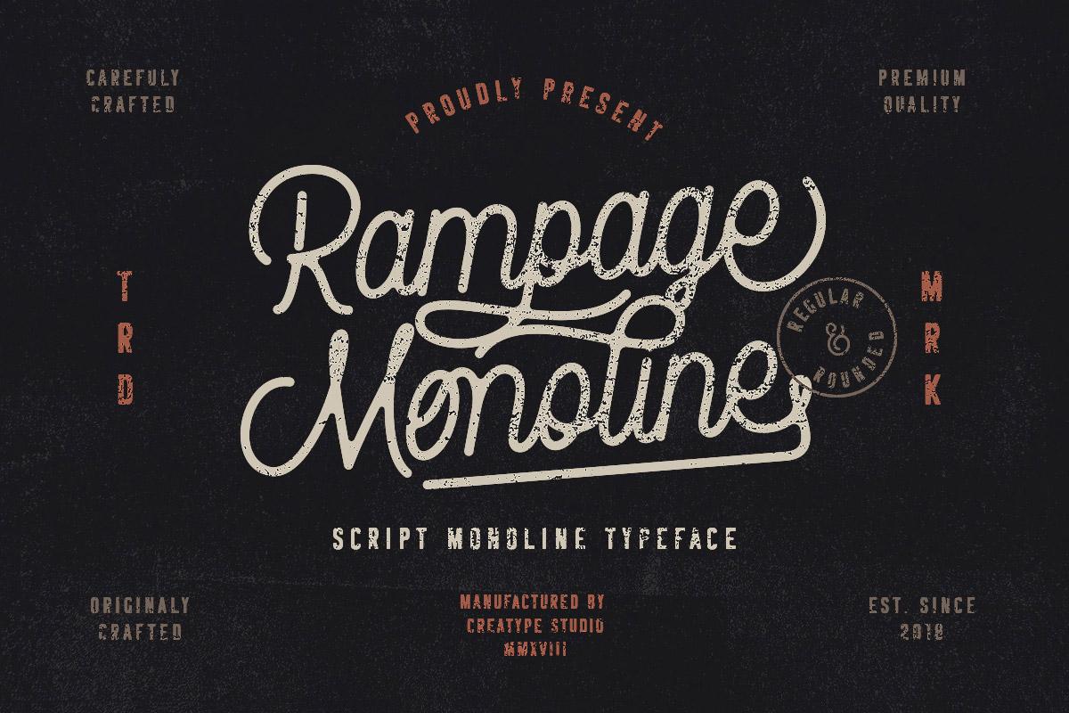 Free Rampage Monoline Script Font