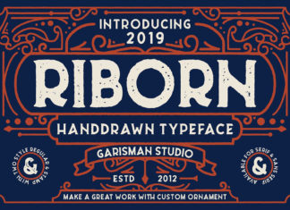 Free Riborn Display Font