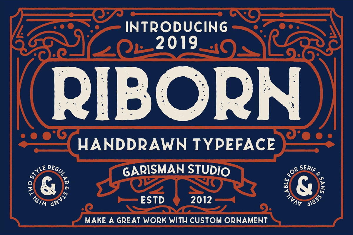 Free Riborn Display Font